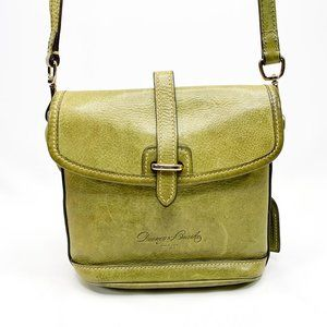 DOONEY & BOURKE Green Leather Crossbody Saddle Bag